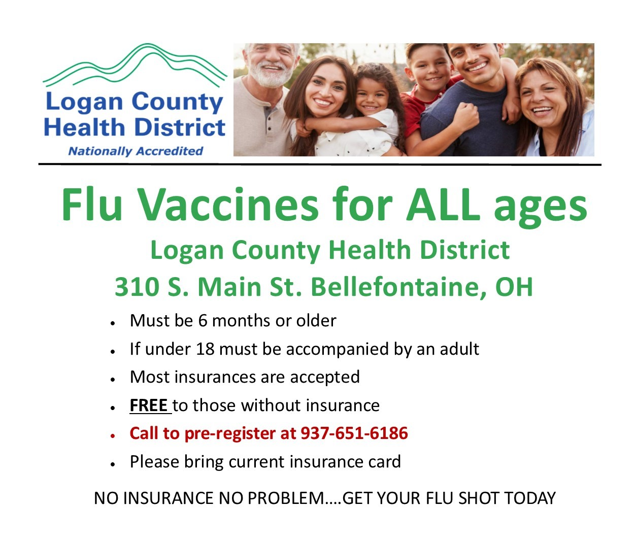 Flu vaccine for all ages