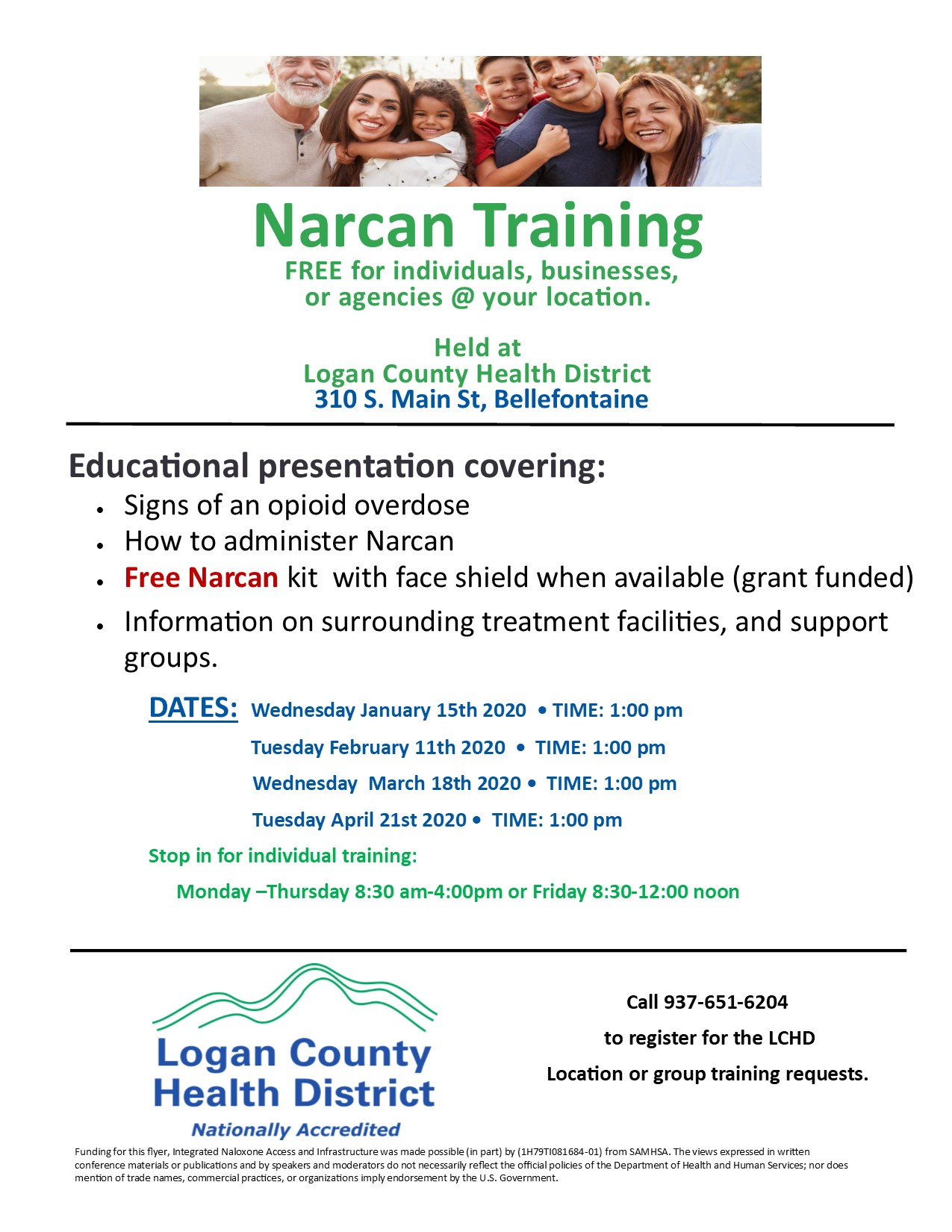 Narcan Training Flyer